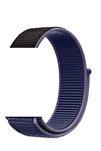 Mavi Siyah Apple Watch Dokuma Kordon Kayış - 38mm 40mm