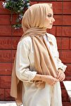 Kadın Kum Beji Cotton Pamuk Şal Ck01