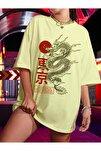 Kadın Civciv Sarısı Warrior Oversize T-shirt