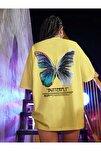 Kadın Civciv Sarısı Butterfly Oversize T-shirt