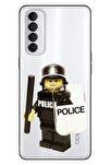 Reno 4 Pro Uyumlu Kılıf Pure Modern Desenli Silikon Lego Police