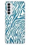 Reno 4 Pro Uyumlu Kılıf Pure Modern Desenli Silikon Parildayan Zebra