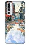 Reno 4 Pro Uyumlu Kılıf Pure Modern Desenli Silikon 3d Anime
