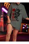 Kadın Haki Warrior Oversize T-shirt