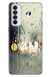 Reno 4 Pro  Kılıf Pure Modern Desenli Silikon Yağmurlu Bir Akşam