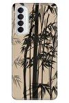 Reno 4 Pro Uyumlu Kılıf Pure Modern Desenli Silikon Spring Palm