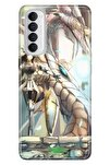 Reno 4 Pro Uyumlu Kılıf Pure Modern Desenli Silikon Anime Dragon