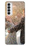 Reno 4 Pro Uyumlu Kılıf Pure Modern Desenli Silikon Serin Aşk