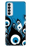 Reno 4 Pro Uyumlu Kılıf Pure Modern Desenli Silikon Nazar Değmesin