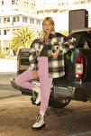Kadın Pastel Leylak Elastik Paçalı Basic Jogger Pantolon 09678407