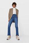Kadın Açık Mavi Straight Fit Vintage Jean 08505533