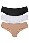 Kadın Brazilian Panty Lazer Kesim Külot 3'lü