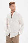 Taş Erkek Düğmeli Yaka Apoletli Slim Fit Gömlek TMNSS20GO0189