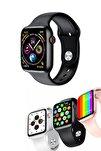 Asus Zenfone 5z Uyumlu Sağlık & Spor Modları Aktif Smart Watch Series W26+ Akıllı Saat Siyah