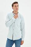 Mint Erkek Düğmeli Yaka Apoletli Slim Fit Gömlek TMNSS20GO0189