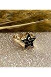 Siyah Yıldız Yüzük - Ayarlanabilir