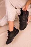 Siyah-Siyah Kadın Sneaker 15195