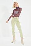 Yeşil Yüksek Bel Mom Jeans TWOSS21JE0172