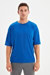 Saks Basic Erkek Oversize Bisiklet Yaka Kısa Kollu T-Shirt TMNSS21TS0811
