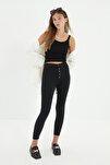 Antrasit Önden Düğmeli Jegging Jeans TWOAW21JE0446
