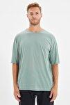Mint Basic Erkek Bisiklet Yaka Oversize Kısa Kollu T-Shirt TMNSS21TS0811
