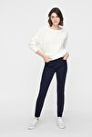 Kadın Lacivert Dar Paça Normal Bel Pantolon 10209868 VMHOT