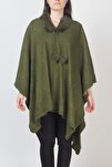 Kadın Çamur Yeşili  Panço