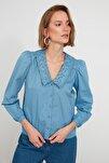 Mavi Yaka Detaylı Gömlek TWOAW21GO0005