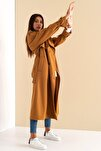 Kadın Turuncu Arrow Trenchcoat Mono Yaka Trençkot