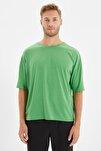 Yeşil Basic Erkek Bisiklet Yaka Oversize Kısa Kollu T-Shirt TMNSS21TS0811