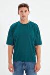 Zümrüt Yeşili Basic Erkek Bisiklet Yaka Oversize Kısa Kollu T-Shirt TMNSS21TS0811