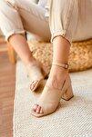 Ten Deri Topuklu Ayakkabı