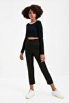 Siyah Yüksek Bel Pensli  Pantolon TWOSS20PL0515
