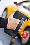 Orleans Hakiki Deri Siyah Telefon Bölmeli Rfıd Engelleyeci El Çantası Cüzdan Kartlık