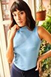Kadın Bebe Mavi Yarım Balıkçı Kaşkorse Bluz BLZ-19000962