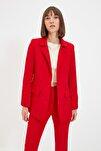 Kırmızı Düğmeli Blazer Ceket TWOAW22CE0165