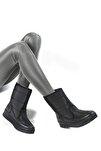 Kadın Siyah Suni Kürklü Kar Botu 33500
