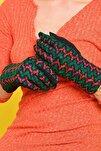Kadın Yeşil Vitilia Dokunmatik Penye Eldiven