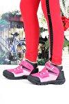 F02  Çocuk Pembe Bot Ayakkabı