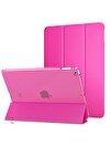 "Apple Ipad 8.Nesil 10.2"" Pu Deri Smart Case A2270 A2428 A2429 A2430 Koyu Pembe Kılıf"