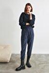 Lacivert Bağlama Detaylı Pantolon TWOAW21PL0070
