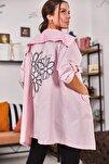 Kadın Pudra Sırtı Çiçek Baskılı Mevsimlik Ceket ARM-20K024030