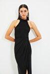 Siyah Yaka Detaylı Abiye & Mezuniyet Elbisesi TPRSS21AE0039