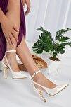 Kadın Stiletto Yüksek Topuk Sedef Gelinlik Ayakkabısı