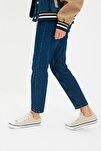 Bej-Kırmızı Çizgili Kadın Sneaker TAKSS21SN0008
