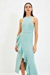 Mint Volan Detaylı Elbise TPRAW19BB0144