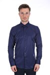 Uzun Kollu Klasik Erkek Gömlek Lacivert/navy 2012017