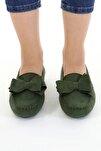 Haki Fiyonklu Kadın Günlük Casual Sneaker Babet Ayakkabı Byndmot02