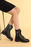 Twg 7255 Kışlık Içi Termal Kürklü Bayan Kar Bot Ayakkabı
