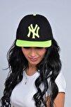 Unisex Siyah New York NY Baskılı Snapback Kep Şapka